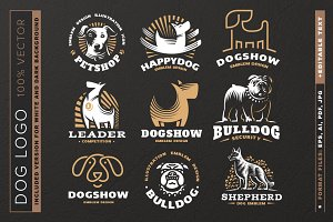 Dog logo set