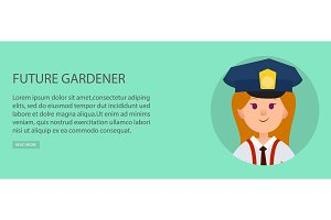 Nice Girl with Blue Cap Dreams Gardener in Future