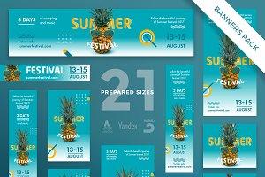 Banners Pack | Summer Festival