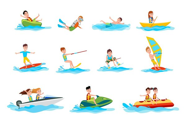 Characters Do Summer Water Sport Il…