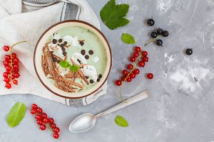 smoothie bowl with chocolate