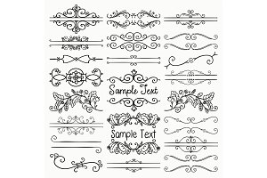 Decorative Text Frames, Swirls
