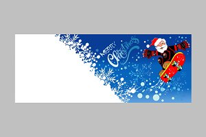 Christmas Card. Santa Claus. Vector