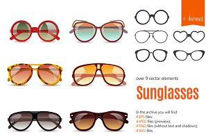 Sunglasses Realistic Set +BONUS!