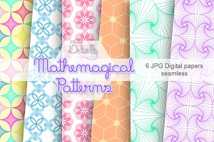 Mathemagical patterns digital papers