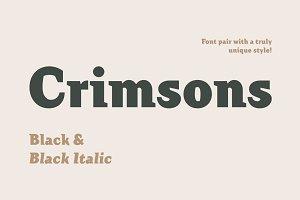 Crimsons—Black & Black Italic