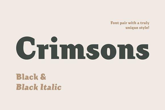 Crimsons Black Black Italic