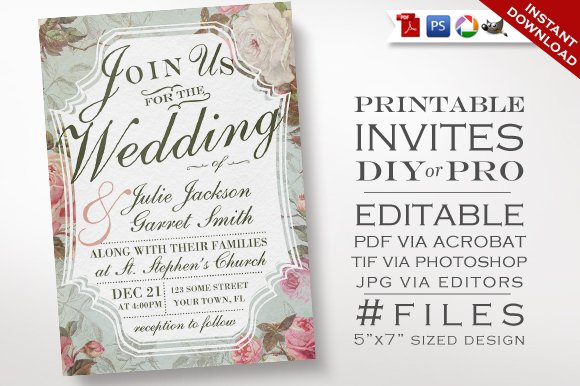 Wedding Invite Email Template: Wedding Invitation