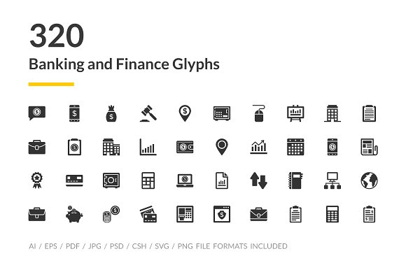 320 Banking And Finance Icons