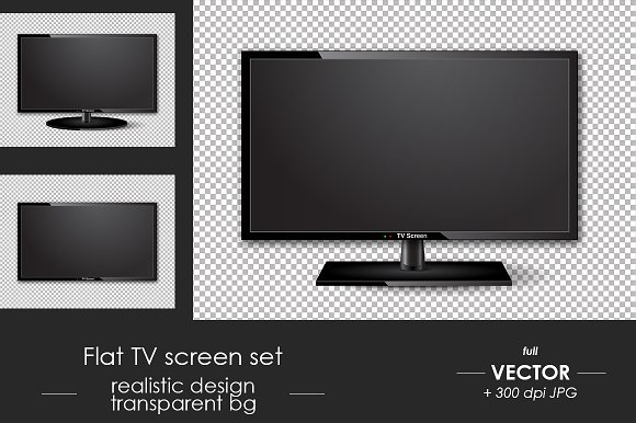 Flat TV Screen Set