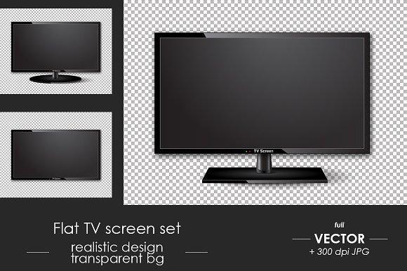 Flat TV Screen Set