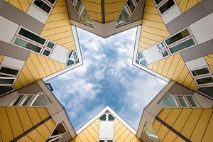 Cube houses in Rotterdam, Netherland