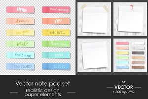 Note pad set, paper stickers