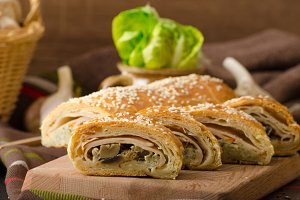 Roll out puff pastry stuffed