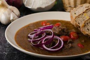 Original Czech beef goulash
