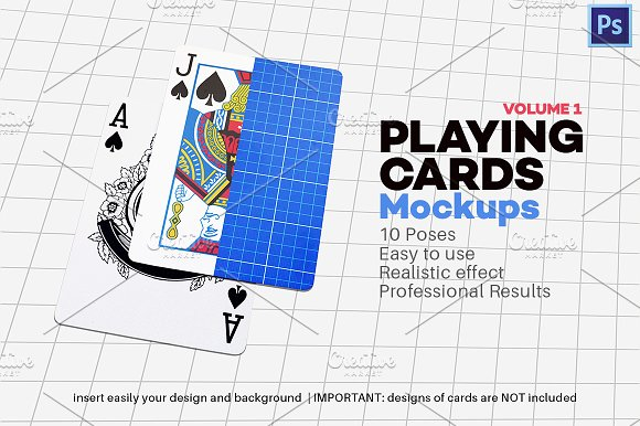 Free Playing Cards Mock-up V.1