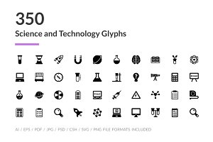 350 Science and Technology Icons
