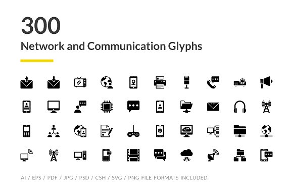 300 Network And Communications Icons