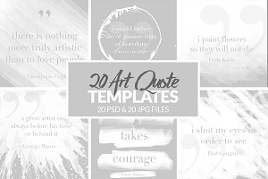 Art Quote Templates for Social Media