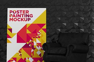 Poster Painting MockUp 006