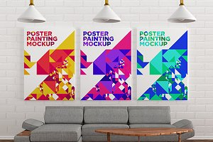 Poster Painting MockUp 007