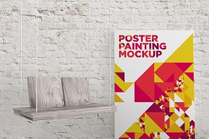 Poster Painting MockUp 008