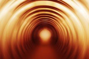 Square vivid orange swirl twirl bright abstraction tunnel backgr