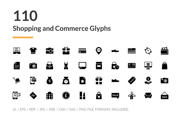 110 Shopping And Commerce Glyph Icon
