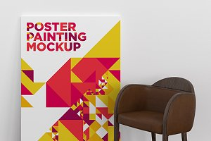 Poster Painting MockUp 009