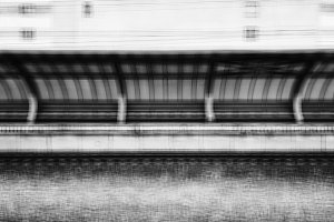 Vintage square train station blurred abstraction background