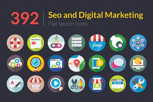 392 SEO and Digital Marketing Icons