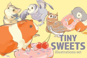 Tiny Sweets - illustrations set