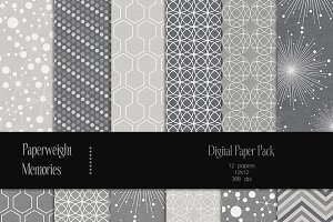 Patterned Paper - Pewter & Lava