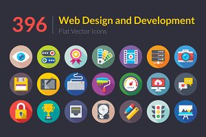 396 Web Design and Development Icons