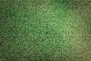 Horizontal green noise interlaced screen background