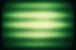 Horizontal vintage green interlaced tv screen abstraction backgr