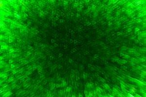 Horizontal green space triangle bokeh background