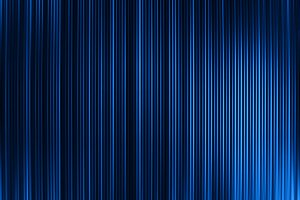 Vertical vivid blue curtains abstract background