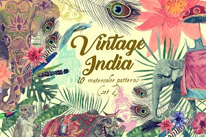 Vintage India 10 patterns (set 2)