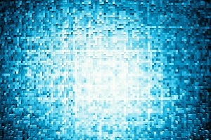 Horizontal blue extruded 3d cubes illustration background