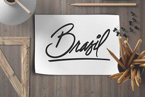 BRASIL Hand lettering Word