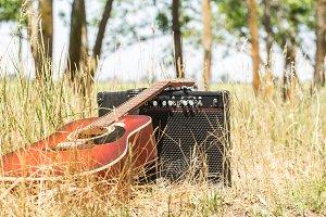 guitar in nature