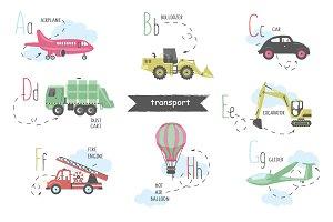 Vector A-Z transport alphabet