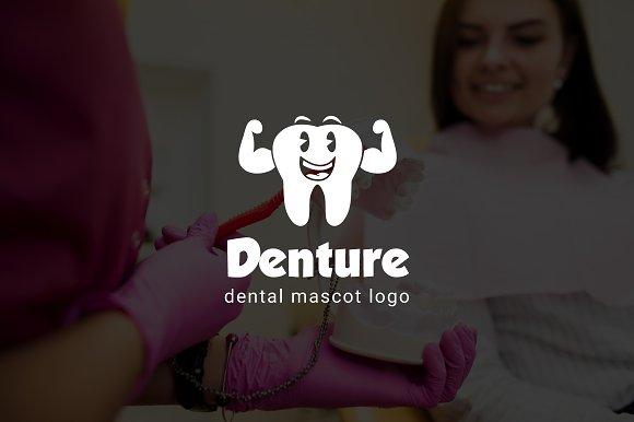 Denture Dental Mascot Logo