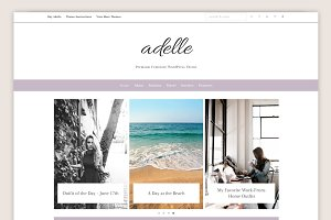 Adelle • Feminine WordPress Theme
