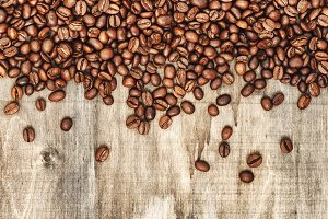 Coffee beans Food background