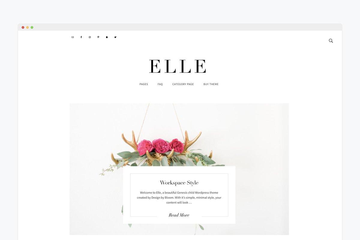 Minimal WordPress Theme Elle ~ WordPress Blog Themes