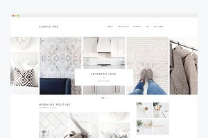 Minimal Wordpress Theme- Simply Pro