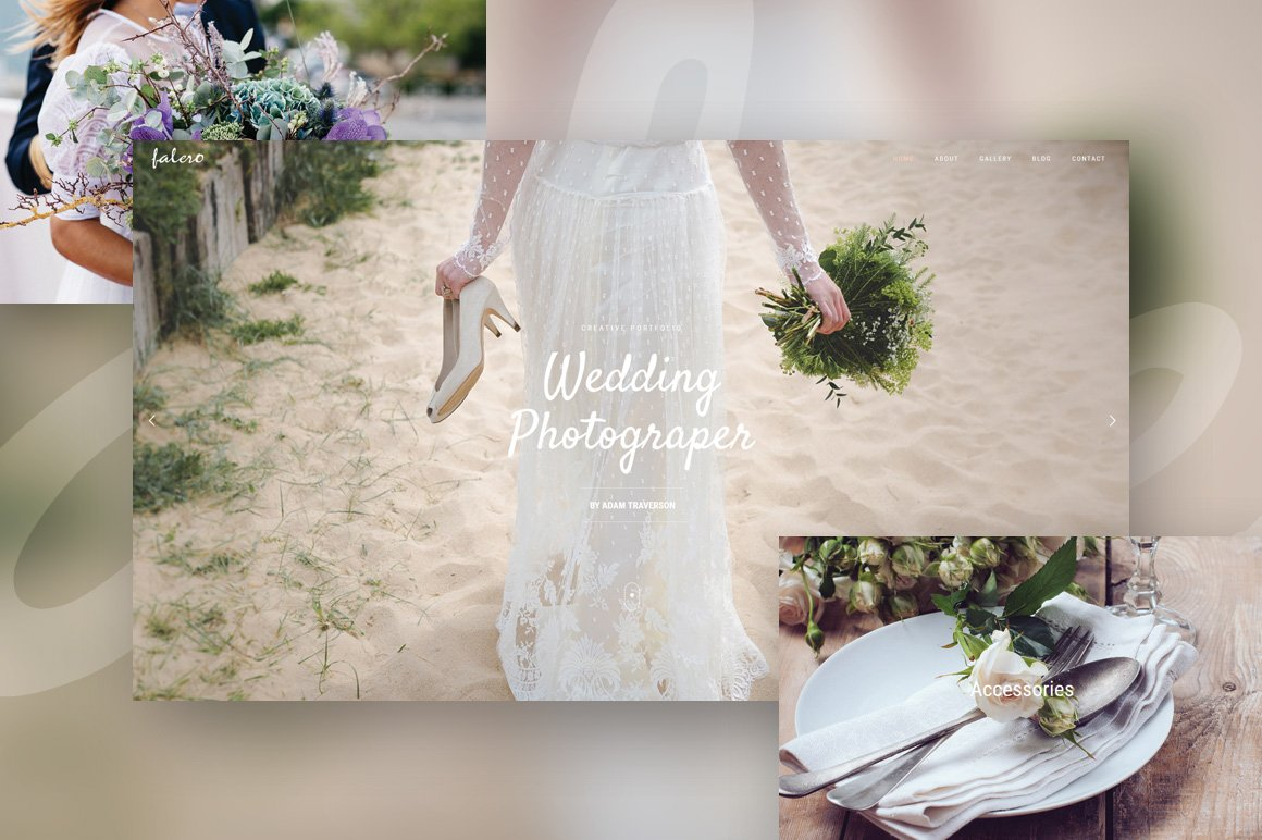 Falero - Wedding Portfolio Theme ~ WordPress Wedding Themes ...