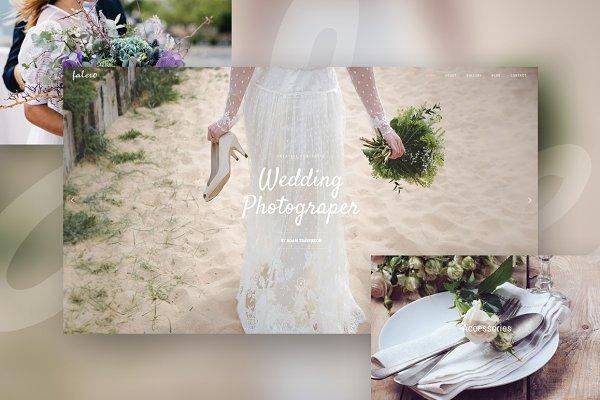 WordPress Wedding Themes: Evatheme Market - Falero - Wedding Portfolio Theme